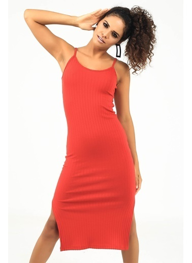 Emjey Elbise Kırmızı